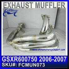 For SUZUKI GSXR600/750 06-07 Exhaust Stainless Steel FCMUN073