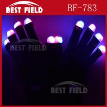 flashing led gloves Rave Light Flashing Finger for party