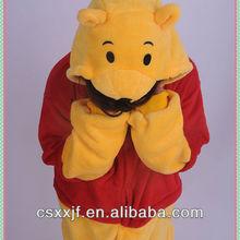 adult 100% polyester pajamas unisex Animal new Winnie bear sexy adult footie pajamas