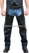 Men Leather Motor bike chap