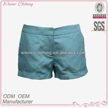 fashion garments direct manufacturer ladies summer shorts