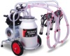 Melasty Double Milking Machine (Mobile) - Aluminum Bucket / Rubber Liners / 240cc Milk Claw