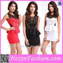 2014 New Wholesale Peplum Dress Fashion