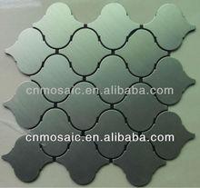 lantern shaped brushed aluminium peel and stick tile