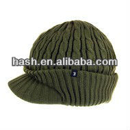 2014 New Product Men Acrylic Cable Knitted Cap