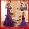 OC-2012 Gorgeous mermaid halter purple evening dresses mermaid evening gowns