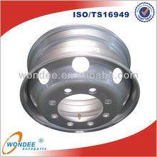 China Tubeless Steel Custom 8.25 Semi Truck Wheel