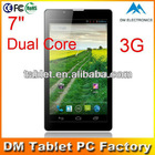 China supplier Android 4.1 3g tablet Android 4.1 cell phone 7 inch 3G Tablet PC/real 3000mah battery