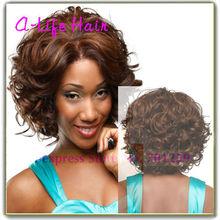 Short Wigs 2013 Fashion Short Human Hair Wigs for African American Beautiful Lady