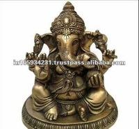 Lord Ganesh brass idol Statue