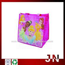 Pink Nonwoven Shopper Bag/Great Print Non-woven Lunch Bag