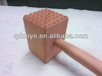 natural beech wooden meat tenderiser for kitchen utensils