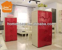 plastic furniture Bathroom filing plastic cabinets drawers with lock