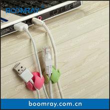 6pcs Multi-Purpose Design Cabledrop Cable Clip Line Fixer Organizers White Black Brown