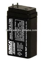 SUNCA Sealed Lead-Acid Rechargeable Battery RB407E/4V0.7AH