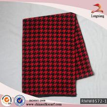 100% Wholesale Silk Brushed Winter Jacquard Scarf Shawl