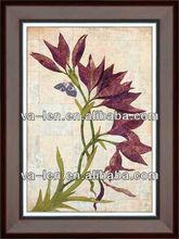 Modern Pretty purple flower adornment Frame picture art