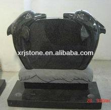 absolute black granite pet gravestone