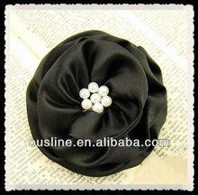 black satin pearls flower for kids corsage