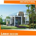 simples pequena villa casa de elevação de construção de projetos