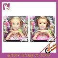 Maquillaje cabeza de la muñeca para los niños de peinado del cabello modelo de la cabeza de la muñeca, hacer los juguetes para las niñas