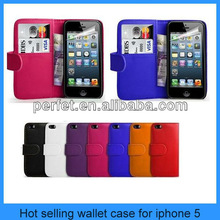 Simple style pu for iphone 5 leather case(PT-I5SL201)