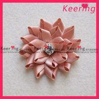 fashion rhinestone centers fabric flower WFL-007