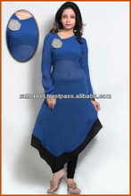 Blue Colour Gorgeous Party Wear Superb Long Dress