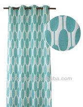 Geometrical Pattern Ready Made Cotton Window Curtain