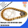 hot sale conveyor chain roller,chain sprocket color motorcycle chain 420,transmission kit cheap motorcycle kits