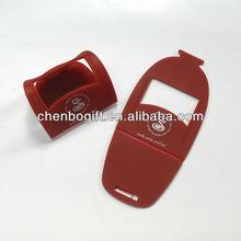 OEM Factory soft pvc phone holder, flexible pvc holder for mobile phone