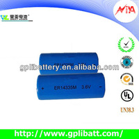 3.6V 1300mAh ER14335M high power Lithium battery