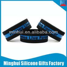 Fashion Thin Blue Line Silicone Bracelet Unusual Gifts