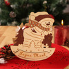 Christmas decoration Natural wooden snowman candy box snowman design to put Christmas gift