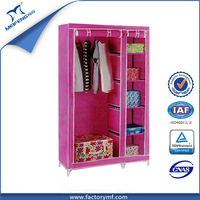 Easy To Use Assembly Movable Cloth Wardrobe