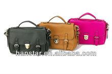 New Korean Style PU Leather Shoulder Bag Handbag Classic Bag (Black)
