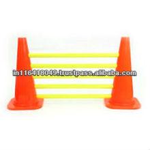 Agility cone hurdles