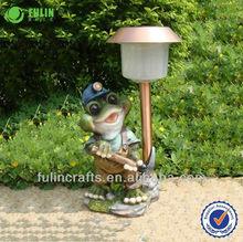 Unique Resin Garden Solar Frog