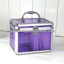 Beauty Purple Transparent Acrylic Vanity Box Makeup Case, RZ-ACS040