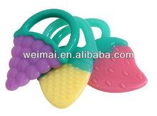 Medical Grade Fruit Design Silicone Flexional Baby Teether