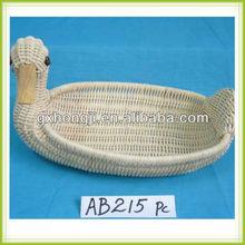 Eco-friendly Rattan Animal shape baskets for gift