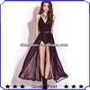 long dress fashion clothing women black fashion dress ,deep V-neck design sexy back open chiffon dress , maxi long dress women