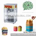 Açoinoxidável pipoca máquina de vending, automática, ce aprovado
