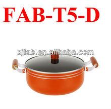 New Design and Hot Orange no oil nonstick aluminum pot
