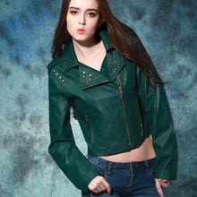 kadınlar yeşil deri ceket kantha ceketler