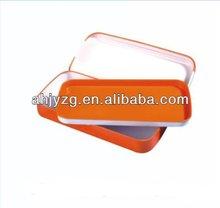 two layers metal rectangle shape pencil case tin box