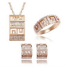 05-5795 Europe charm of metal gold fashon jewellery metal jewelry set