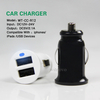 3100mA high quality car battery charger high quality car charger for iphone 5 for LG