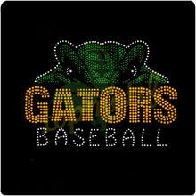 Gators Sport Team Logo Hotfix Motif, Baseball Rhinestone T-shirt Applique