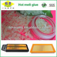 Mini Pleat Heap Filter Hot Melt Adhesive FDA